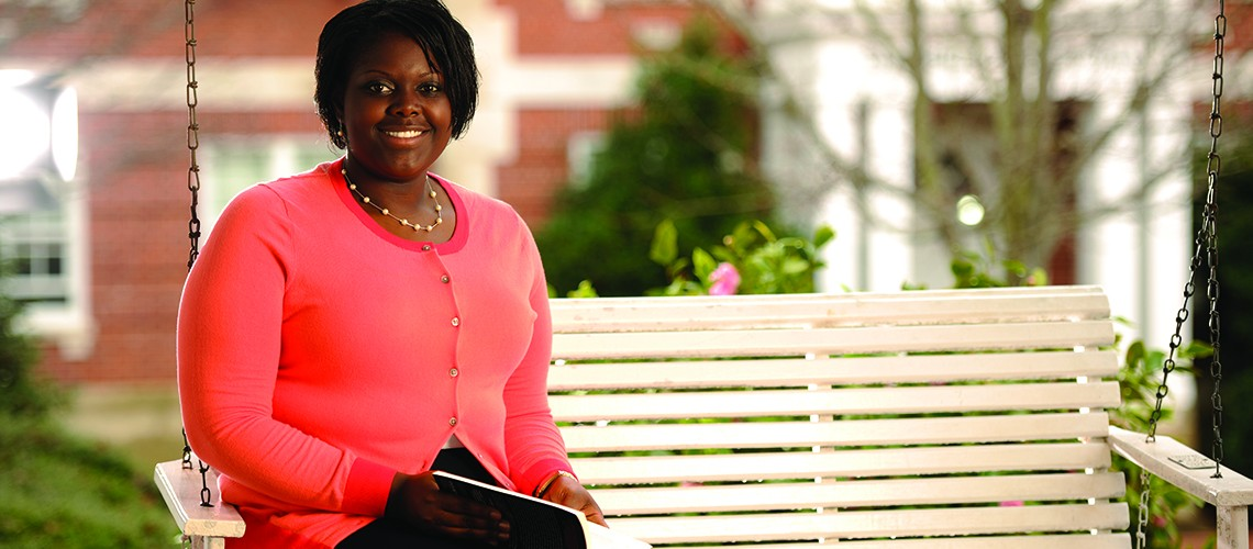 Marian Royston, Mitchell Scholarship recipient, Auburn Magazine, Cater Hall,