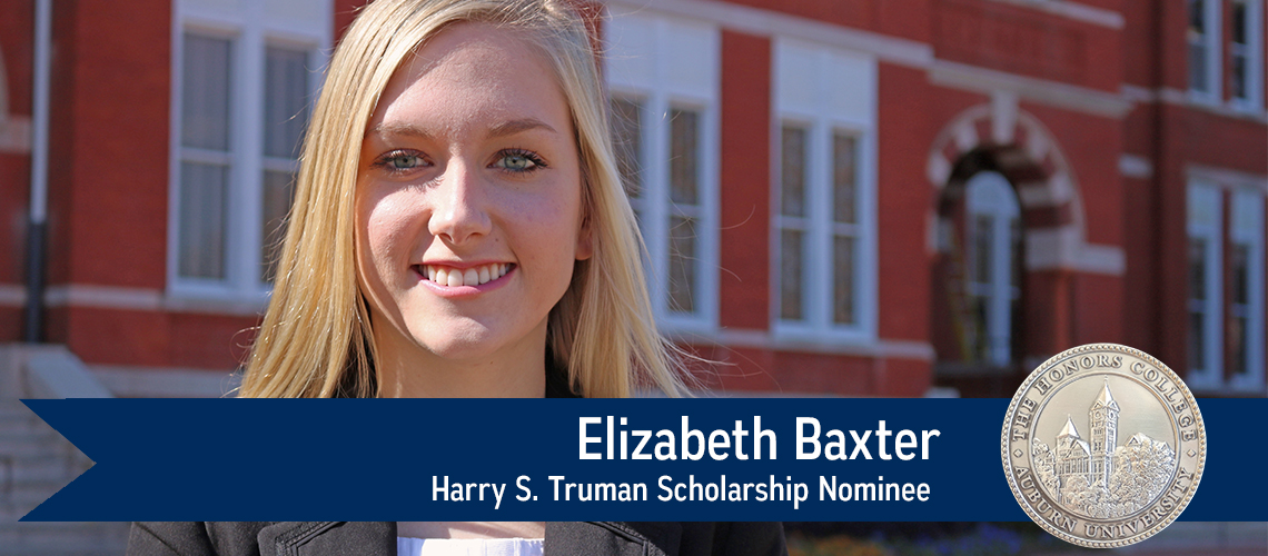 Elizabeth Baxter, Harry S. Truman Scholarship Nominee
