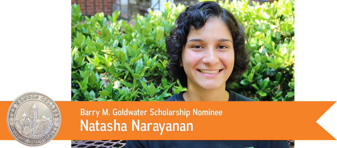 Natasha Narayanan Nominated for Goldwater