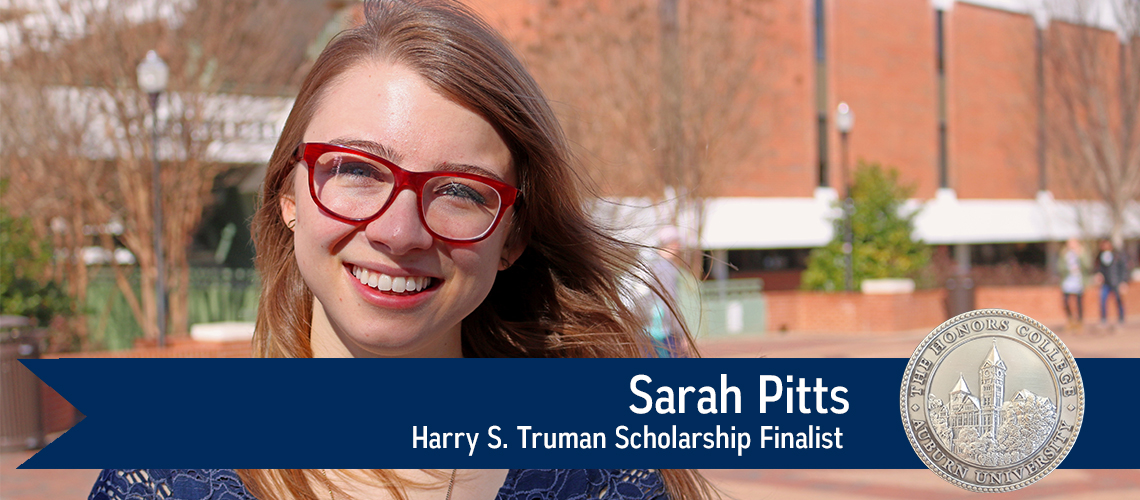 Sara Pitts, Harry S. Truman Scholarship Finalist