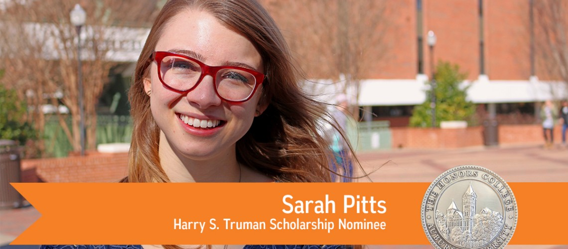 Sarah Pitts, Harry S. Truman Scholarship Nominee