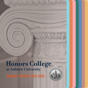 Honors College Annual Report Cover
