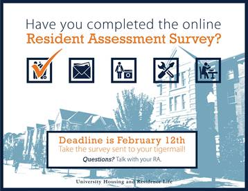 Graphic Element requesting completion one the UHRL assessment survey