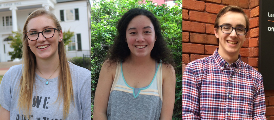 Three Honors College Students Nominated for Truman Scholarship