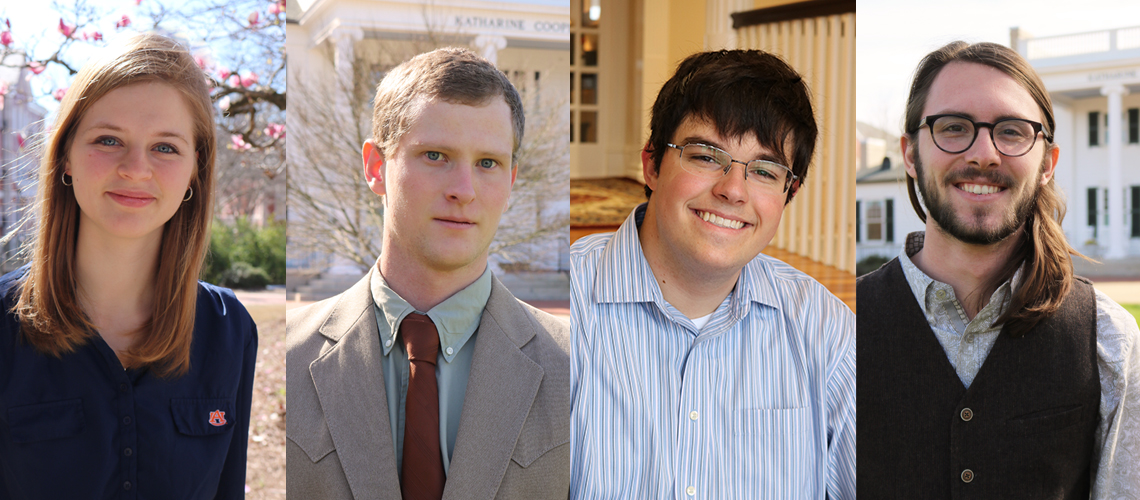 Four Honors Students Nominated for Barry M. Goldwater Scholarship