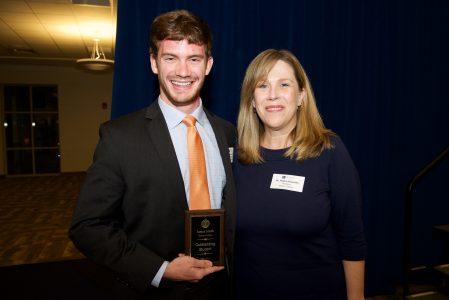 James Smith and Dr. Baumann at the SGA Awards