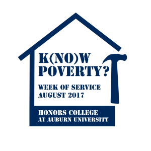 The 2017 k(no)w poverty? Week of Service Graphic
