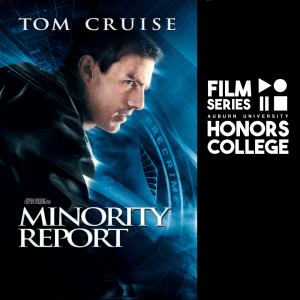 minority report movie poster with HC film series graphic