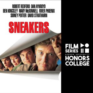 movie poster for sneakers with HC film series graphic