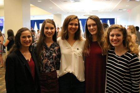 honors students at the freshmen induction ceremony