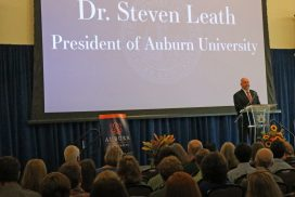 Steven Leath presents at the Honors College Induction Ceremony