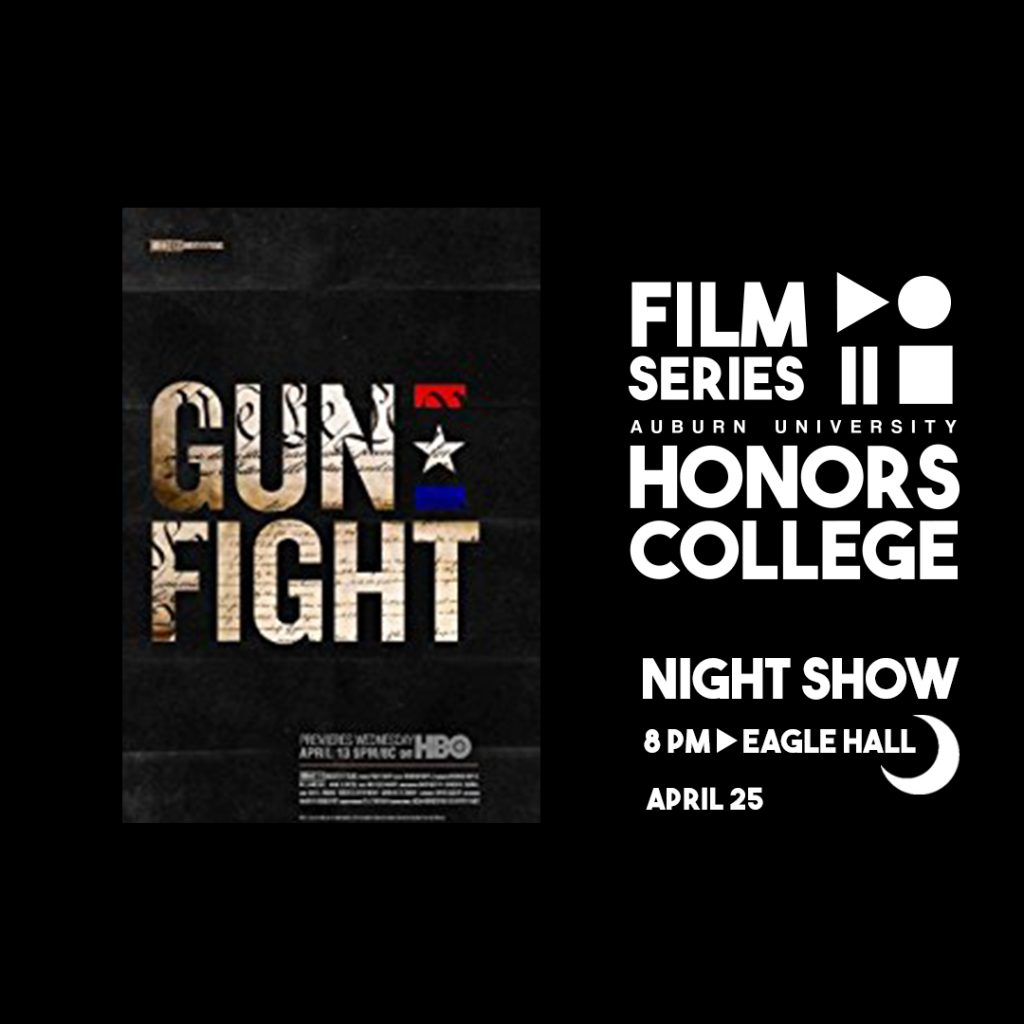 Honors College Film Series graphic for: Gun Fight on April 25 at 8 pm in Eagle Hall