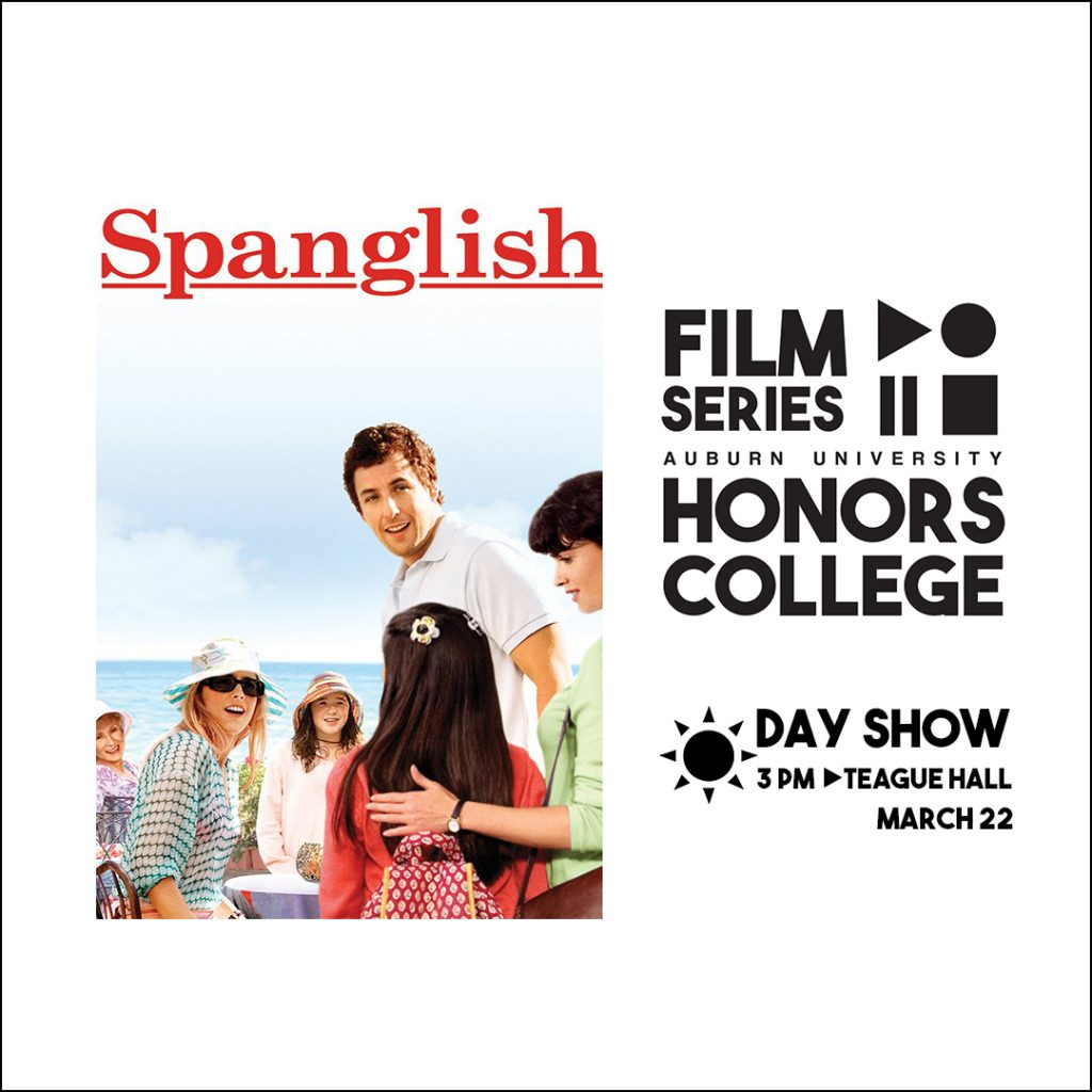 Honors College Film Series graphic for: Spanish at 3 pm in Teague Hall on March 22