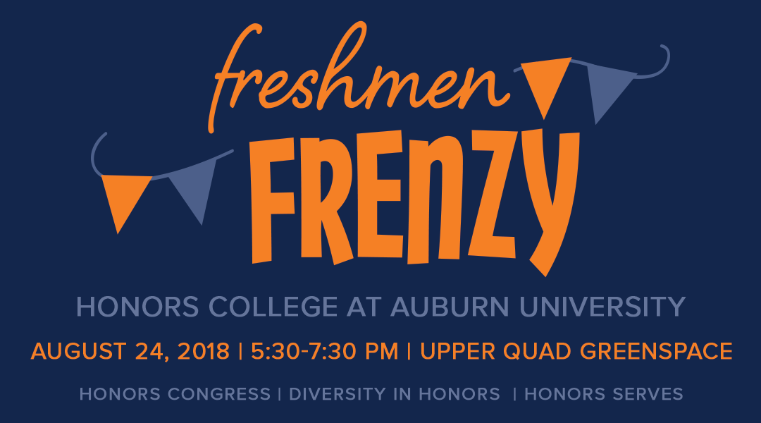 freshmen Frenzy august 24 from 5:30-7:30 in the upper quad