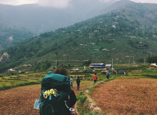 Lindsey Olive on homestay trek through Nepal