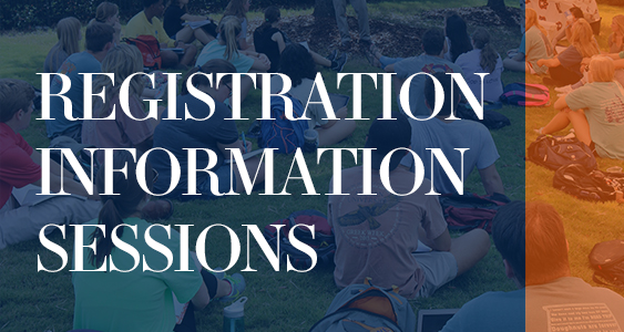 graphic for registration information sessions