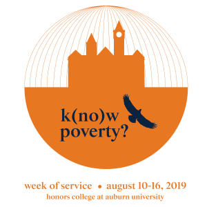 Orange k(no)w poverty? Week of Service 2019 logo
